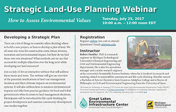 Land-use planning webinar flyer