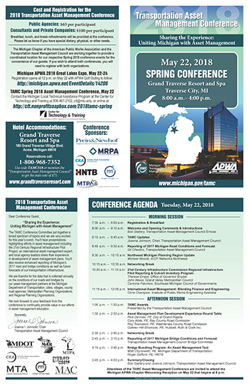 2018 Spring Transportation Asset Management Conference -