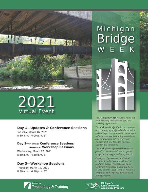2021 Michigan Bridge Week March 16 through 18